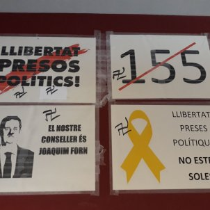 Catalan court rebuffs banning yellow loops on government buildings