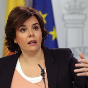 """Spanish deputy PM: """"They've been able to protest because they have Spanish ID"""""""