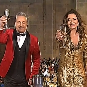 TV presenter married to Franco's grandson wishes Spaniards all the best for the year 1900