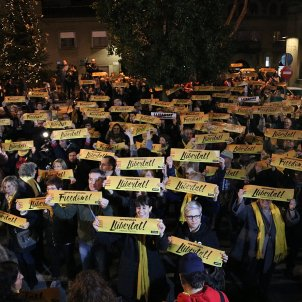 Protests around Catalonia in support of Junqueras