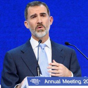 King Felipe defends intervention in Catalonia to Davos World Economic Forum
