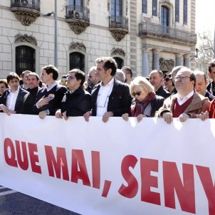 Latest pro-Spain march in Barcelona attracts smaller crowd