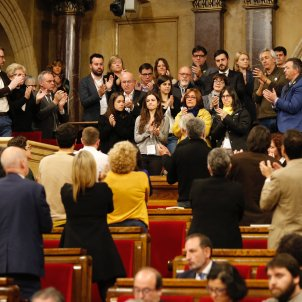 Catalan parliament converts disrupted session into tribute to jailed and exiled MPs