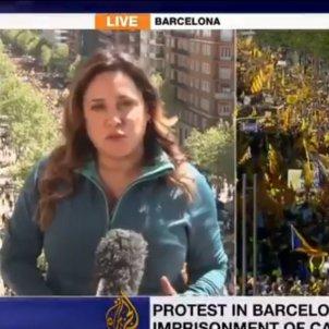 World media highlight huge Barcelona protest for Catalan prisoners