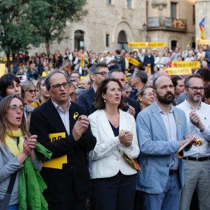 Quim Torra heads protest for seven-month anniversary of Jordis' imprisonment