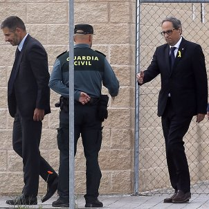 """Torra visits Catalan leaders held in Madrid jails: """"We are waiting for you"""""""