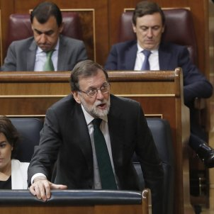 Rajoy gave 'no' vote number 155 against the motion of no-confidence