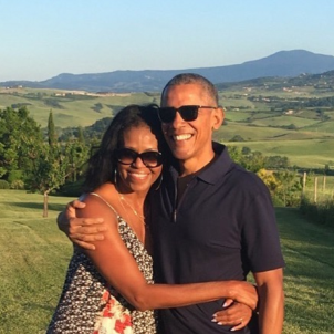 The Obamas are on Catalonia's Costa Brava for a celebrity wedding