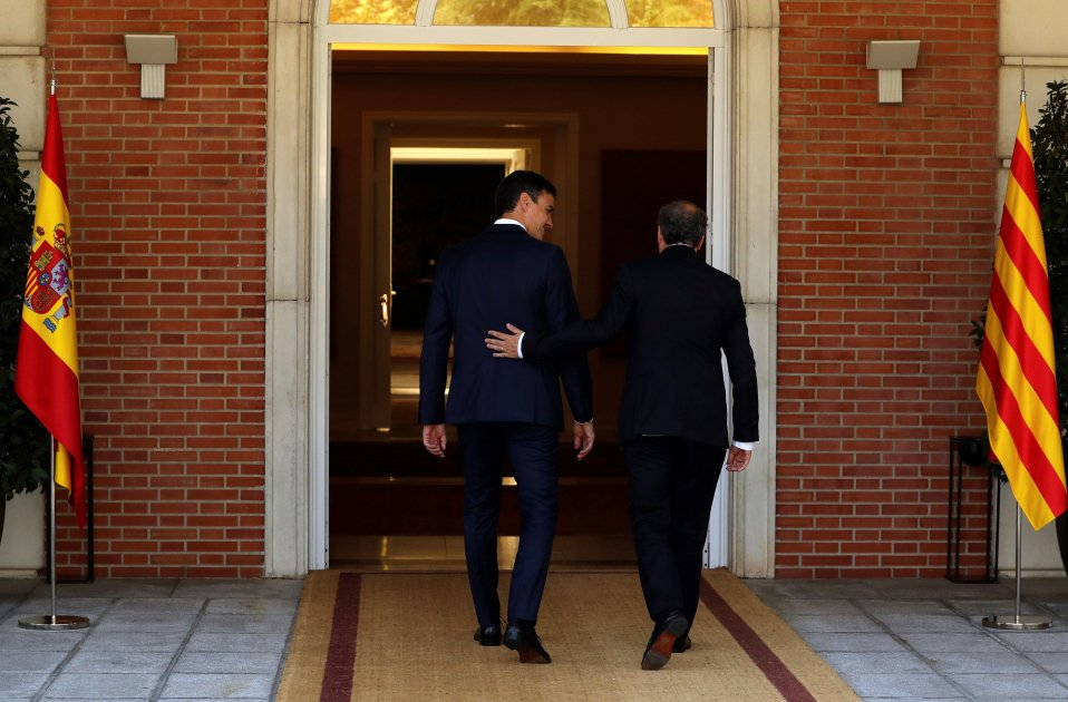 Torra won't meet with Sánchez if anything is off the table, like a referendum