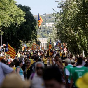 Torra leads massive march demanding freedom for prisoners and for Catalonia