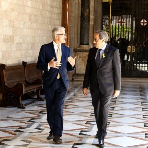 President of Flanders concerned over the existence of Catalan prisoners and exiles