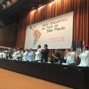 """Foro de São Paulo denounces the """"repressive drift"""" of the Spanish state"""