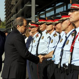 Spain prevents Catalan police accompanying president Torra to Brussels as bodyguards