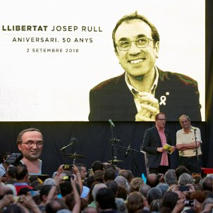 A Catalan civil rights march, proposed by Torra at homage to jailed Rull
