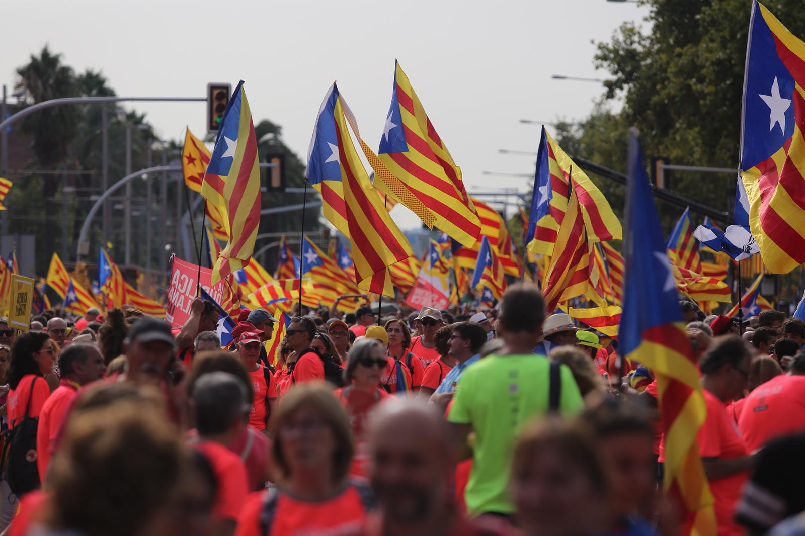 The plans for this year's Catalan national day protest