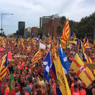 Catalan independence supporters fill Barcelona's Diagonal in another huge 'Diada'