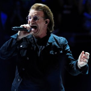 U2 censor Catalan independence images from visuals for Madrid concerts