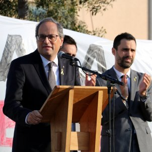 "Torra, at referendum commemoration: ""You put the pressure on"""