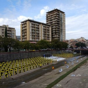 Spectacular installation in Girona to protest repression in Catalonia