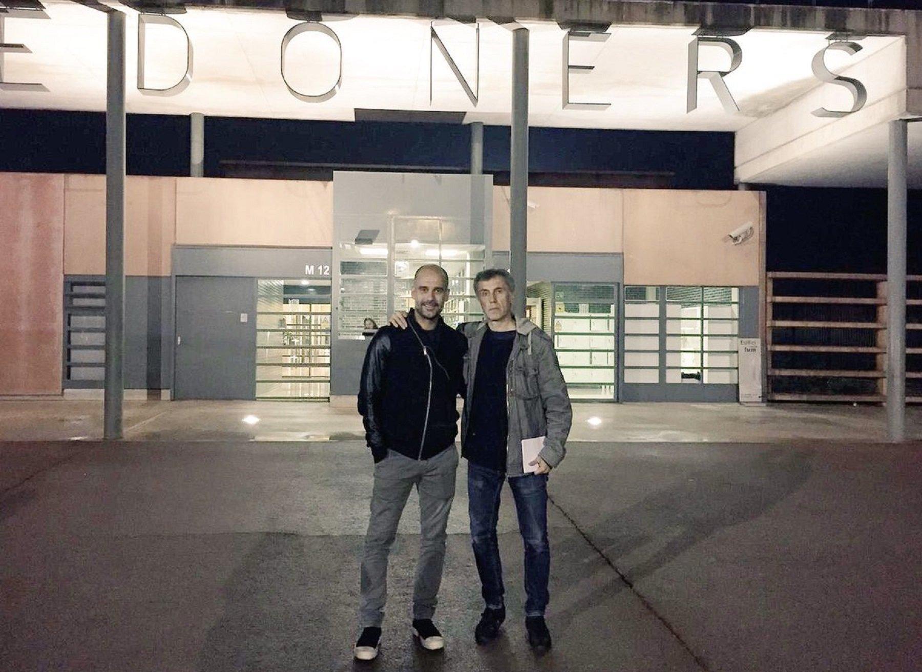 Pep Guardiola visits Lledoners prison