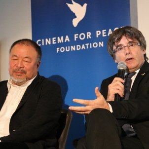 "Puigdemont and Ai Weiwei denounce Europe's ""double standards"" on human rights"