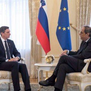 "Catalan president says visit to Slovenia has ""broken the international silence"""
