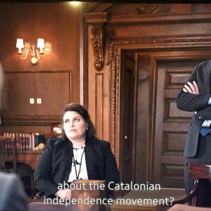 The Catalan independence process in US series