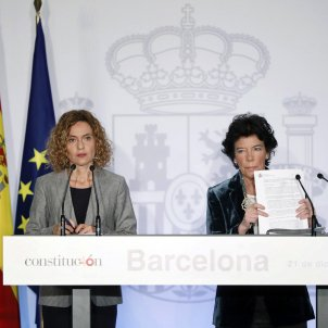 The Spanish government, in Barcelona, avoids discussing the Catalan prisoners