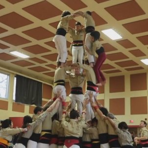 Canadian TV captivated by Catalan human towers in Montreal
