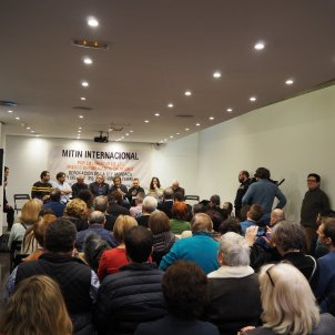 Full house at Madrid meeting to demand release of the Catalan prisoners