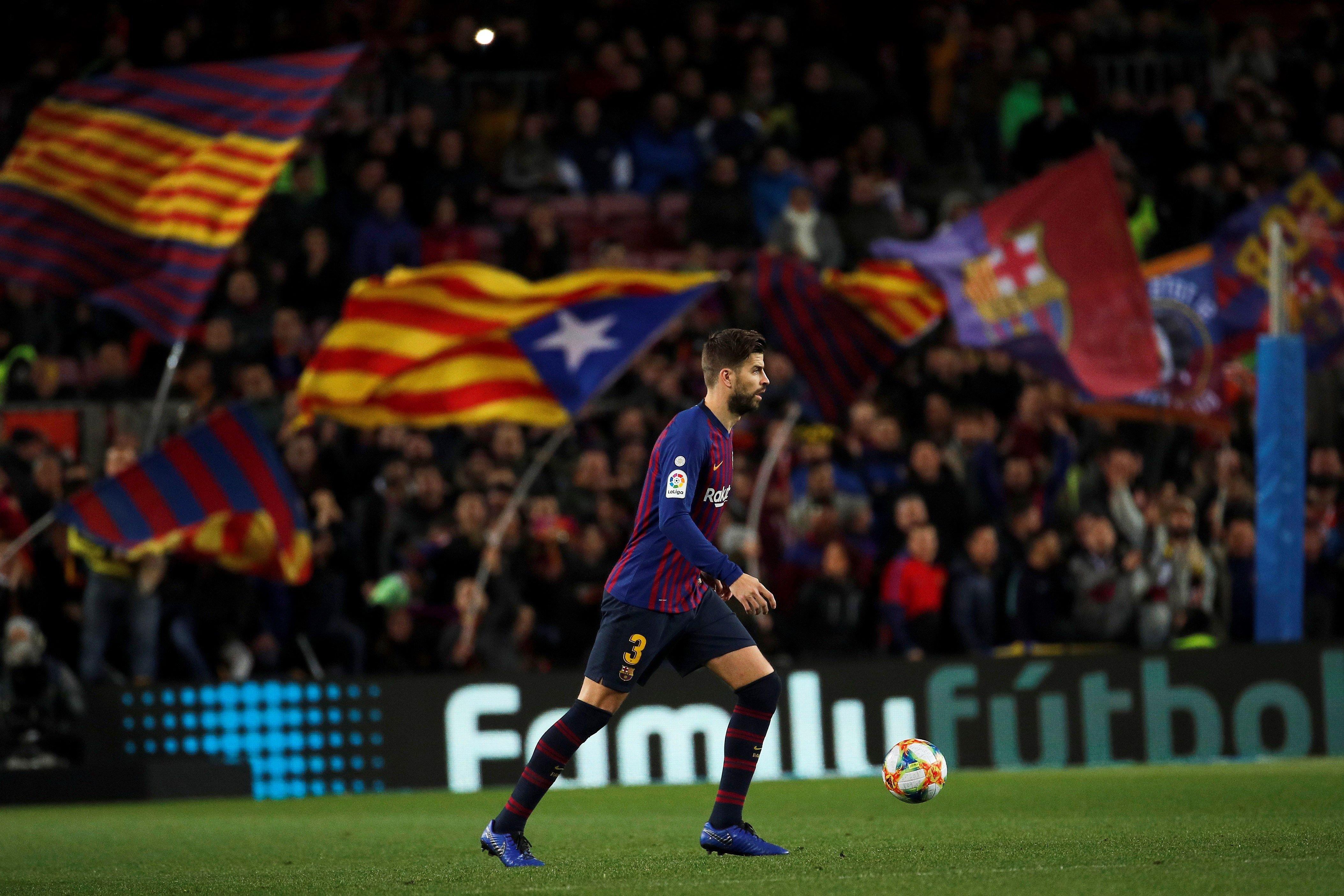 Gerard Piqué swaps Spain for Catalonia