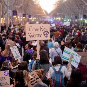 Women fill Barcelona for the feminist protest