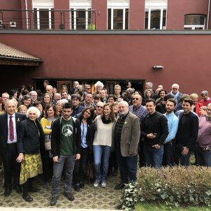 Catalan exiles break bread with supporters at Brussels event
