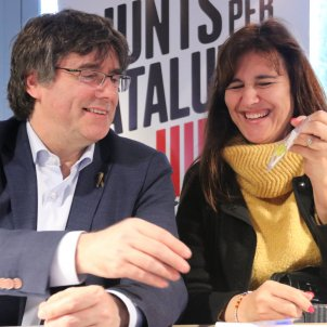 Puigdemont and Borràs remind ERC of Catalan voters' mandate: 51% pro-independence