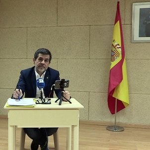 Jordi Sànchez's conciliatory tone in press conference from prison