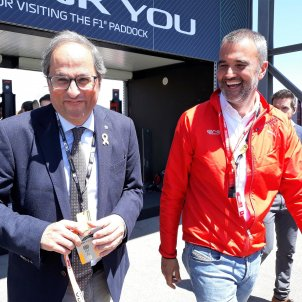 "Torra: ""We'll give it everything so that Formula One continues in Catalonia"""