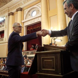 Catalan prisoner Raül Romeva suspended from seat in Spanish Senate