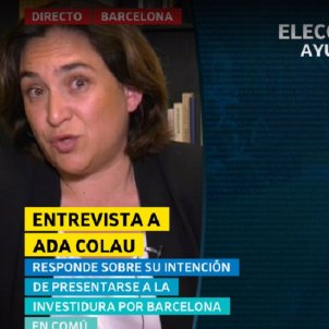 "Ada Colau: ""All votes in my favour in the mayoral investiture are welcome"""