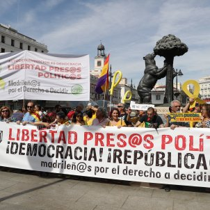 Protest in Madrid for release of Catalan political prisoners