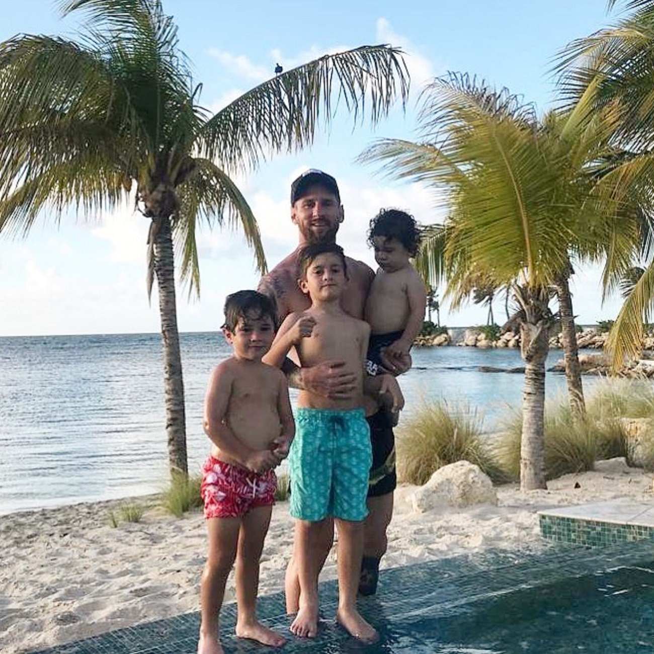 That feeling when: the kids are playing beach football, with some dad called Leo Messi