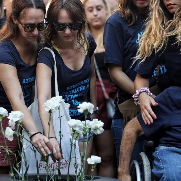 Sadness falls over Barcelona's Rambla again as city recalls victims of 2017 attack