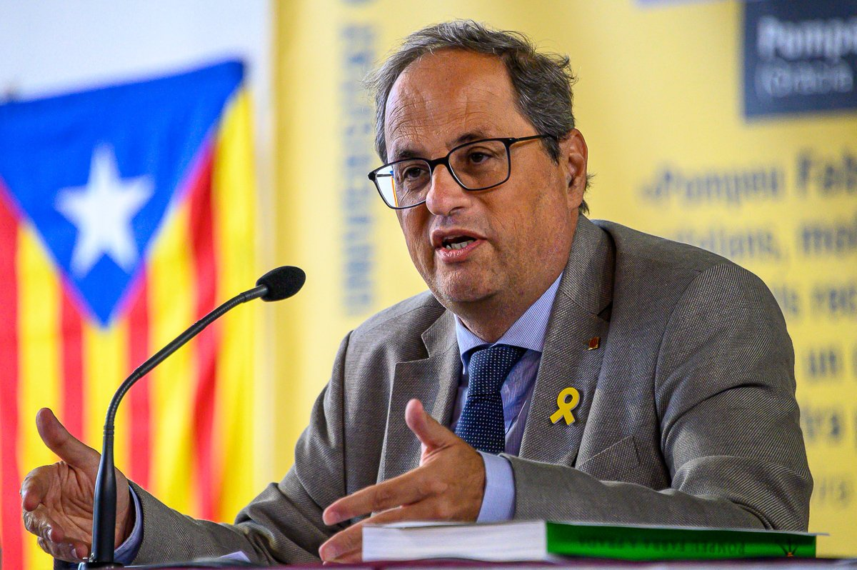 """Catalan president Torra calls for sacrifices, says independence """"will be a conquest, never a gift"""""""