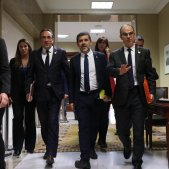 Three jailed Catalan leaders demand release based on Puig ruling in Belgium