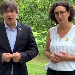 """Puigdemont and Rovira: """"On Wednesday, let's show we're determined and want to win"""""""