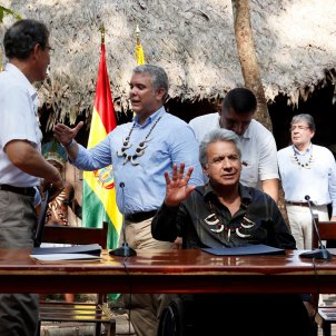 Video | Ecuador's president Moreno sings in Catalan at summit to save the Amazon