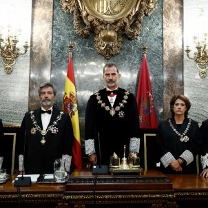 Spain's king closes ranks with the judiciary ahead of Catalan trial sentence