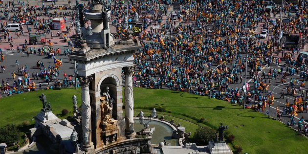 VIDEO | The best aerial images of Catalonia's 2019 Diada rally - In English