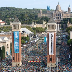 Massive Catalan independence march calls for unity as trial verdict approaches