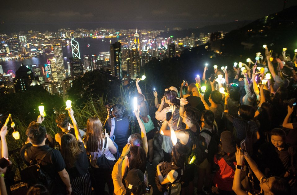 Demonstration organised in Hong Kong to support Catalonia