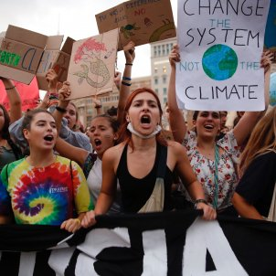 Tens of thousands of people attend Fridays For Future climate protests around Catalonia